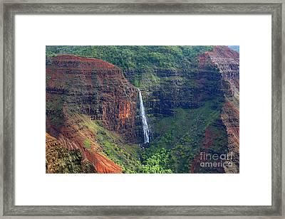 Island Falls Framed Print by Mike Reid
