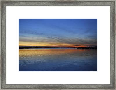 Island Heights At Dusk Framed Print by Terry DeLuco