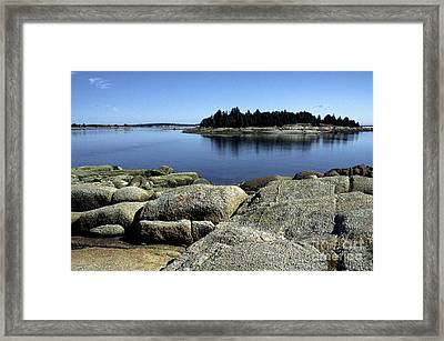 Island In The Bay Framed Print by Thomas R Fletcher