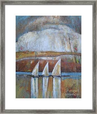 Island Rain Framed Print by Kip Decker