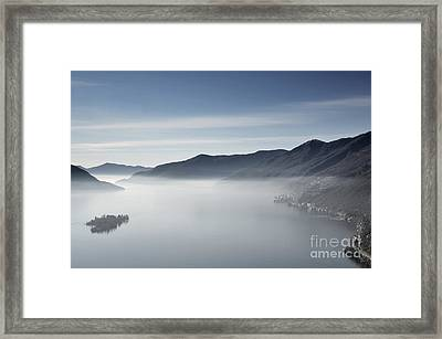 Islands On A Foggy Lake Framed Print by Mats Silvan