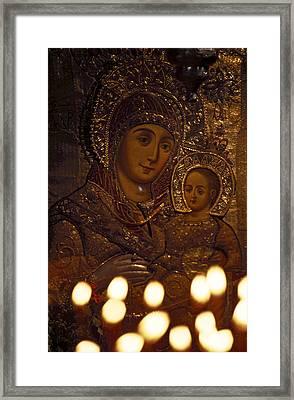 Israel, Bethlehem, Israel-church Framed Print by Keenpress