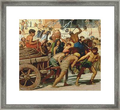 Israel In Egypt Framed Print by Sir Edward John Poynter