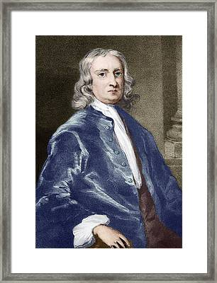 Issac Newton, English Physicist Framed Print by Sheila Terry