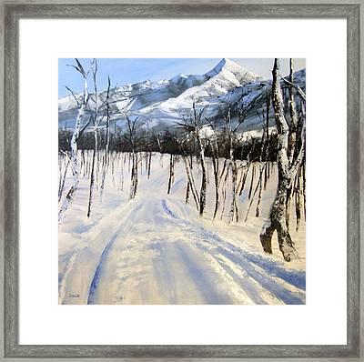 Istidan Mountain Framed Print by Jennifer  Blenkinsopp