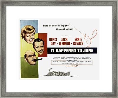 It Happened To Jane, Doris Day, Jack Framed Print by Everett