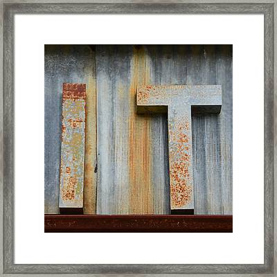It Rusty Sign Framed Print by Nikki Marie Smith