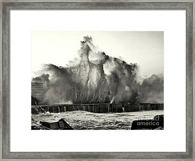 It Seems That Neptun Is Nervous 04 Framed Print by Arik Baltinester