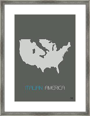 Italian America Poster Framed Print by Naxart Studio