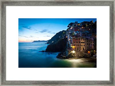 Italian Coast Romance Framed Print by Mike Reid