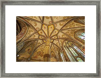 Italian Court, The Vault Of The Royal Chapel Framed Print by Maremagnum