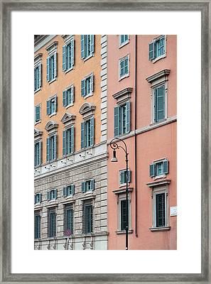 Italian Facade Framed Print by Mark Greenberg