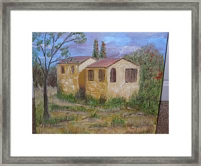 Italian Farm House Framed Print by Terrence ORourke
