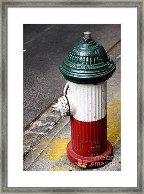 Italian Fire Hydrant Framed Print by Sophie Vigneault
