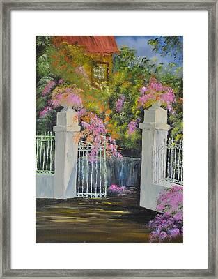 Italian Garden Framed Print by James Higgins