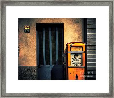 Italian Gasoline Framed Print by Silvia Ganora