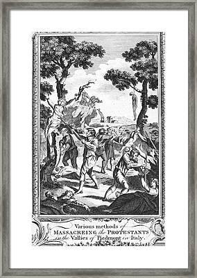 Italy: Protestant Martyrs Framed Print by Granger