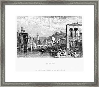 Italy: Verona, 1833 Framed Print by Granger