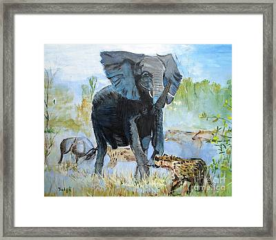 It's A Jungle Framed Print by Judy Kay