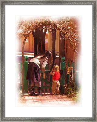 It's About The Gate Framed Print by Feva  Fotos
