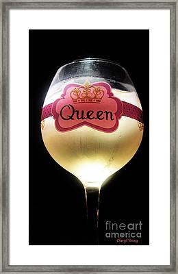 Its Good To Be The Queen Framed Print by Cheryl Young