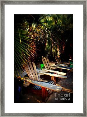 Its Margarita Time In Paradise Framed Print by Susanne Van Hulst