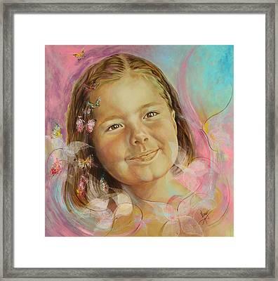 Ivana's Portrait Framed Print by Karina Llergo Salto