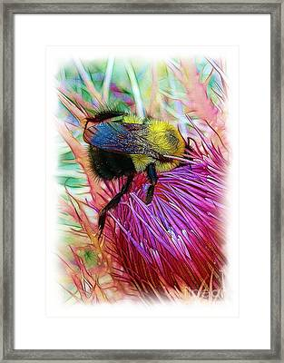 I've Fallen Into A Thistle And I Can't Get Out Framed Print by Judi Bagwell