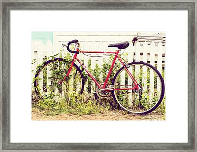 Ivy Bike Framed Print by Laura George