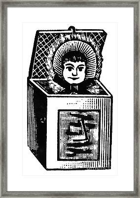 Jack-in-the-box, 1895 Framed Print by Granger