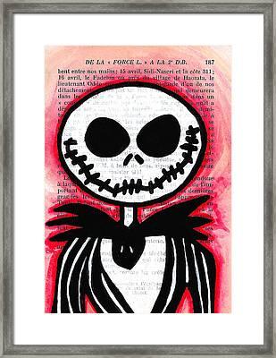Jack Skellington Framed Print by Jera Sky