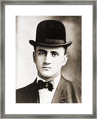 Jack Zelig 1888-1912 Was A Jewish Framed Print by Everett