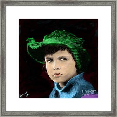 Jackie Coogan Framed Print by Arne Hansen