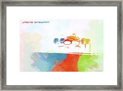 Jackie Stewart Framed Print by Naxart Studio