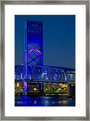 Jacksonville Skyline Framed Print by Debra and Dave Vanderlaan