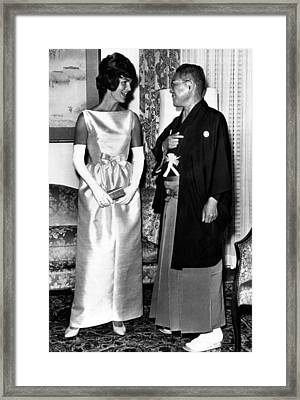 Jacqueline Kennedy, And Japanese Prime Framed Print by Everett