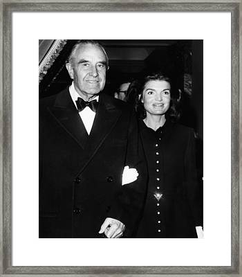 Jacqueline Kennedy In Her First Public Framed Print by Everett