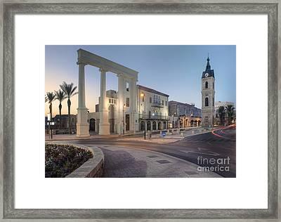 Jaffa Clock Tower Framed Print by Noam Armonn