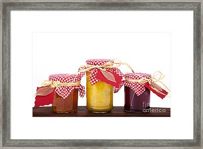 Jam Jelly And Pickle Framed Print by Jane Rix