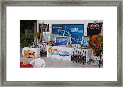 Jamaica Tournament Trophies Framed Print by Carey Chen