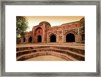Jamali Kamali Mosque And Tomb Framed Print by Poonamparihar.com