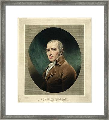 James Gillray, British Caricaturist Framed Print by Miriam And Ira D. Wallach Division Of Art, Prints And Photographsnew York Public Library