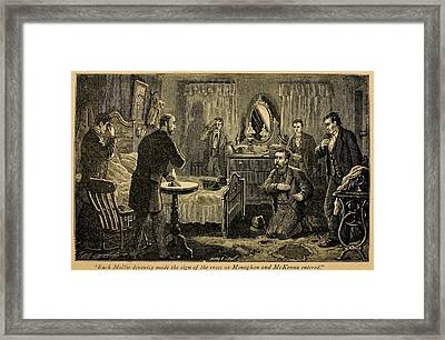 James Mcparlan, Being Initiated Framed Print by Everett