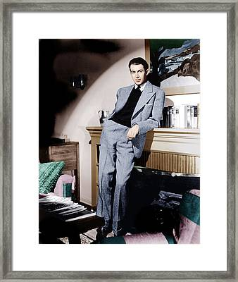 James Stewart, Ca. 1940s Framed Print by Everett