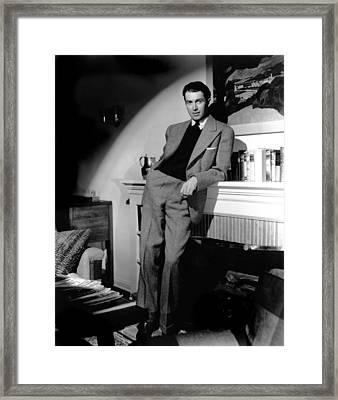 James Stewart, Portrait Framed Print by Everett