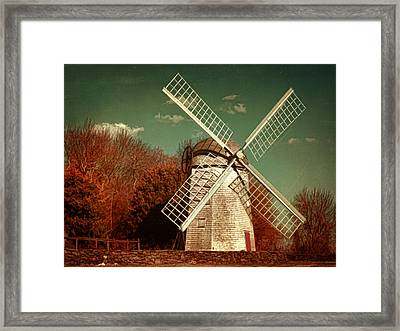 Jamestown Windmill Framed Print by Lourry Legarde