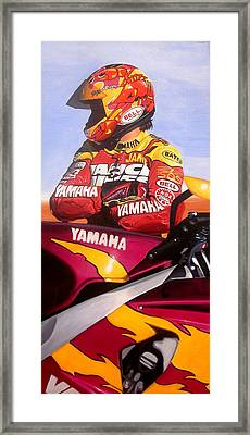Jamie James - Yamaha Yzf Framed Print by Jeff Taylor