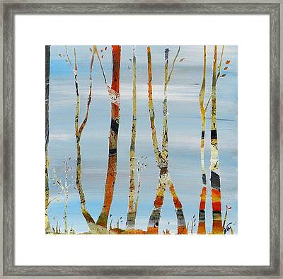 Jamies Trees Framed Print by Heather  Hubb