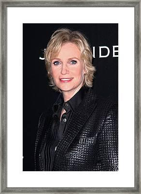 Jane Lynch At Arrivals For Audi Golden Framed Print by Everett