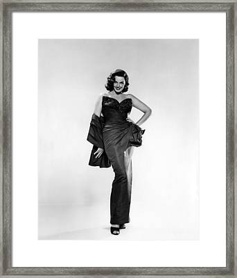 Jane Russell, Ca. Early 1950s Framed Print by Everett